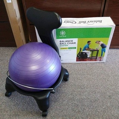 ball chair with seat active sitting gaiam