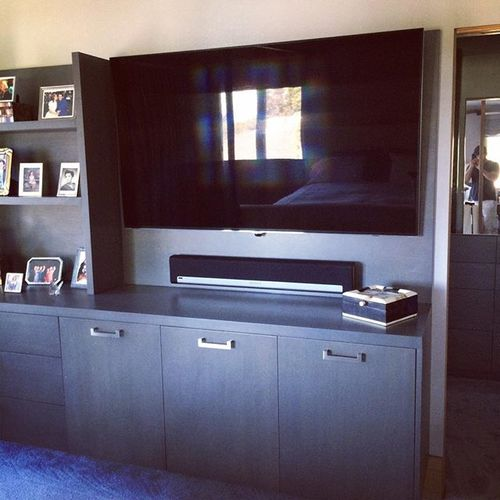 Let's get the largest TV possible #digitalhouse #samsungled #digitalhouseav #sonos