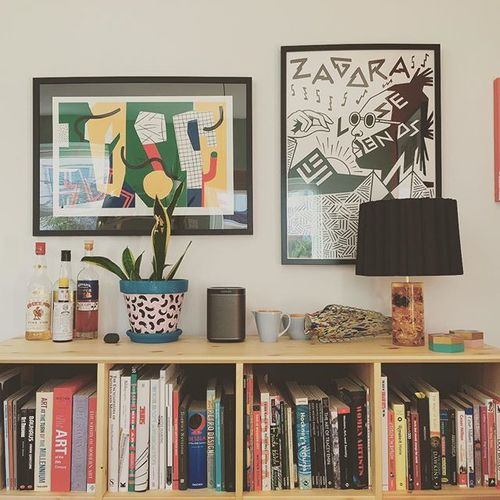 New @sonos looking pretty in amongst the @atelier_bingo and @printclublondon #teddraws #sonos #prints #home #screenprints