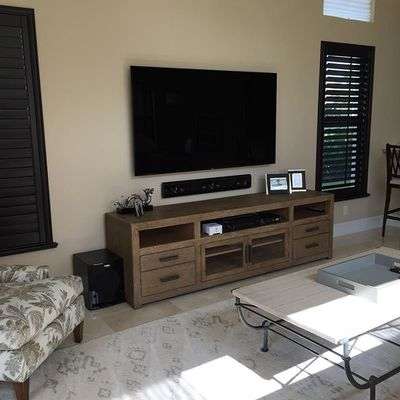 "Today's install.  Samsung 75"" LED 4k.  We did a @Klipschaudio LCR with Yamaha receiver and sonos connect.  Also did sonos around the house for multi room sound. #hometheater #samsung #4k #yamaha #klipsch #velodyne#sonos#surroundsound#boca #bocaraton #broward #southflorida #smarttv #tv#tvmounting #clean #homeautomation#brokensound#perfectelevisioninc#electronics"
