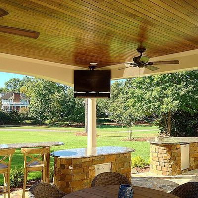 Outdoor tv on the golf course. #av  #avlife #electronics #speakers #sonos #work #install #sony #audioadvice