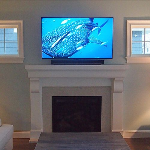 Another fantastic installation by yours truly. LG 55EC9300 55 inch OLED curve with a Sonos Playbar, Sonos Sub, and Sonos Play Ones for rear surrounds. #LG Electronics #OLED #Vanco Electronics #Sanus mounts #Sonos #Play Bar #Sub #Play One #Breezypoint #NY #custom #installation #Olympus Pen #APC