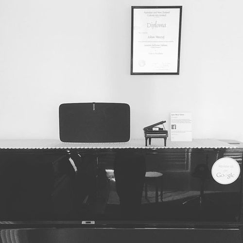 New addition to the studio, Sonos Play 5. It's unassuming, but projects the most unbelievable and powerful tone... #sonos #play5 #sound #tone #studio #guitar #piano #music #teacher #sound #amazing #practice #lakesmusic #business #spotify #sidegigs #melbourne #VIC
