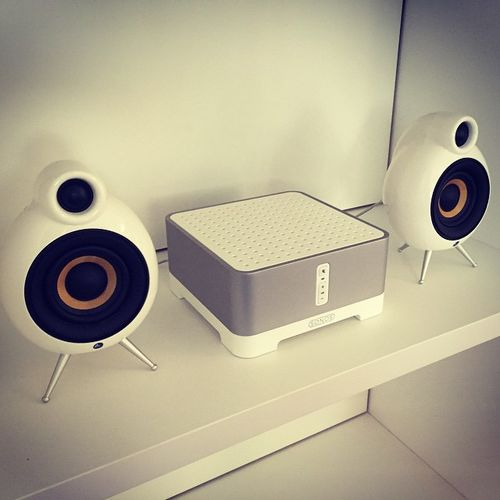 SONOS Connect: AMP with MicroPod - speaker ! #Sonos #Connect #MircoPod #white