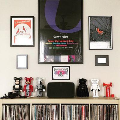 Home. #neworder #kaws #bearbrick #supreme #vinyl #sonos #austin #texasforever #78704 #78704eva