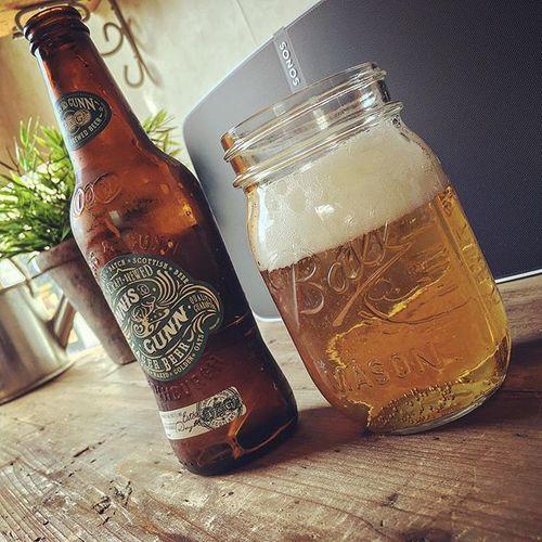 Beer & Music #sonos #play5 #innisandgunn #beer #saturday #masonball #drinkingjar