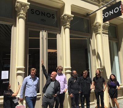 Today was cool. #sonosstore officially opened at 101 Greene Street with @thurstonmoore58 @thereallyrealelp @tvontheradio @nancywhang  @waltertown @missinfo @official_rakim