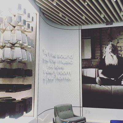 Inside the new Sonos Store in SoHo. . . . . #sonos #newyorkcity #soho #audio #speakers #sound #nyc #grandopening #night #instacool #sonosstore #instapic #music