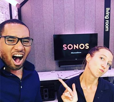 Audio demo at Sonos store! Currently playing >> #Nas - Memory Lane ・・・ #sonos #sonosstore #soho #soundproof #tech #smartspeakers #digital #music #experience