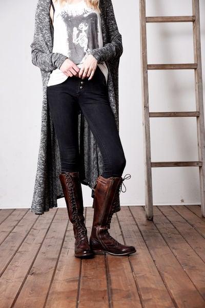 della teak rustic - tall boots - women bed|stu