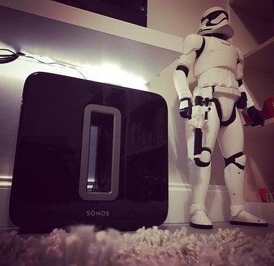 Standing guard. Lol #Sonos #sonossub #starwars