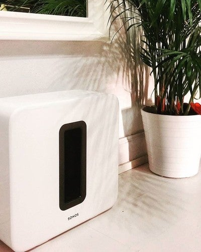 When you don't have your own  children to buy Christmas presents for, you can top up your Sonos collection. Merry early Christmas to us!! #sonos #christmas #earlychristmas #earlychristmaspresent #sub #woofer #sonossub #art #white. #whiteroom #rumble #sound #base #feelthebase