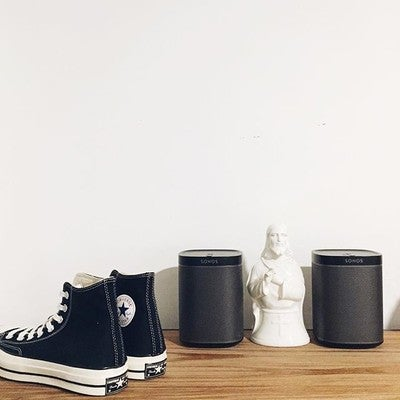 Christmas love from the fam at @sonos and @converse.  - #sonos #play1 #converse #converse70s