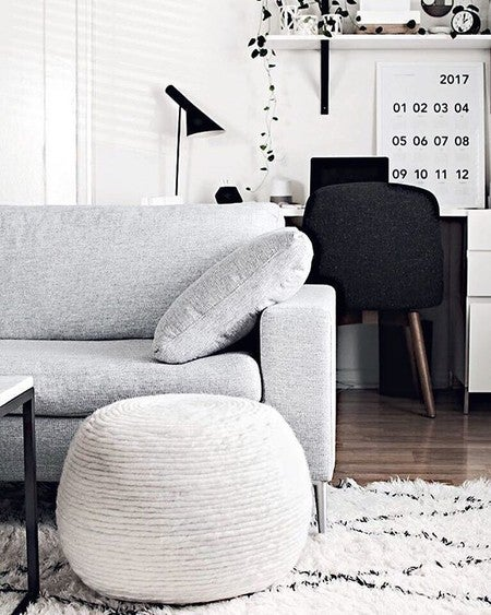 image by homeyohmy containing white, black and white, furniture, room,  living room