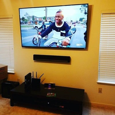 "Another happy client. 70"" #Vizio #4K #UHD TV with #Sonos #Playbar & Subwoofer. #Xfinity #Xboxone & #PS4  Call Invisible Settings for all your TV & Home Theater needs (510) 987-8470 or visit the Website www.invisiblesetting.com"