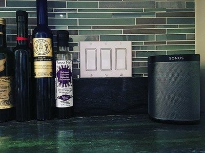 Sonos in the kitchen! #sonos #homedecor #music #play1 #cooking #kitchen #love @sonos