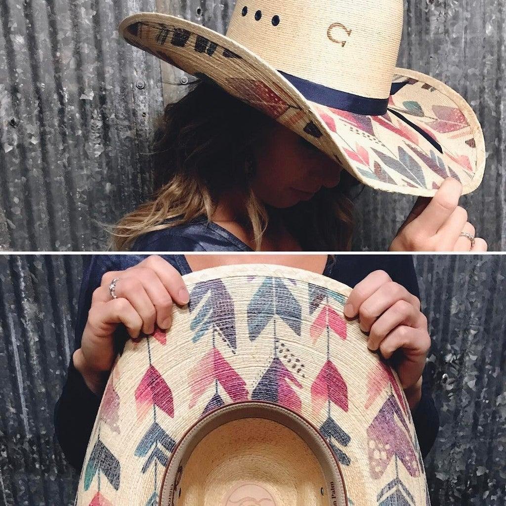 b5d1a57fe Charlie 1 Horse Straight Arrow Palm Leaf Cowgirl Hat
