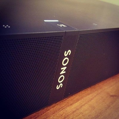 New @sonos toy came in today @hifibuys... Pretty amazing sound for something this small #playbase #sonos #takemymoney #listenbetter #worstjobever #hooraysarcasm