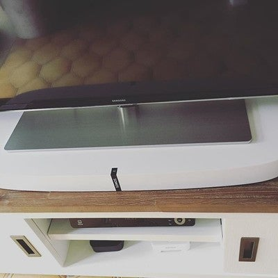 Nieuw speelgoed! Sonos play base #sonos #boysandtheirtoys #playbase #surroundsound ❤