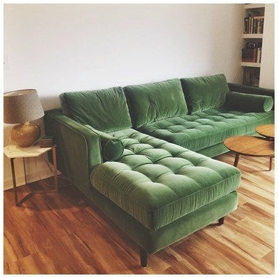 image by kelsikendall : green sectional couch - Sectionals, Sofas & Couches