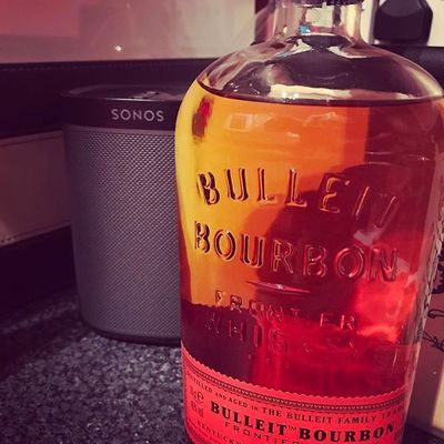 Tonight's tipple. #bullietbourbon #sonos #play1 #drink#music #relaxing