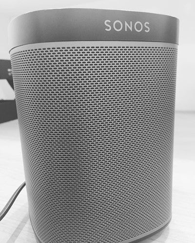 When you bring in your Sonos sound system to spice up the weekend at your work!  #Volkswagen #music #sonos  #play1 #work