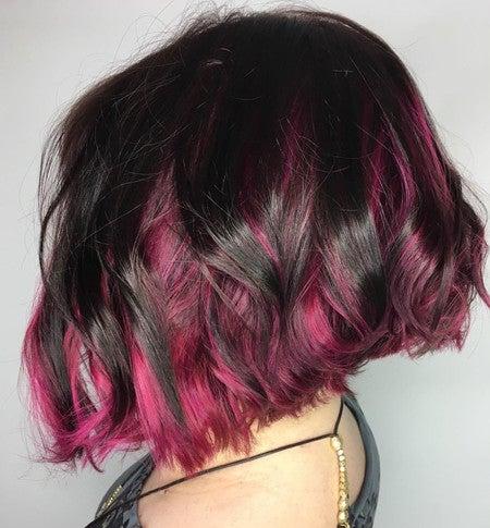 Chocolate Cherry Red Burgundy Vegan Semi Permanent Hair Dye Lime