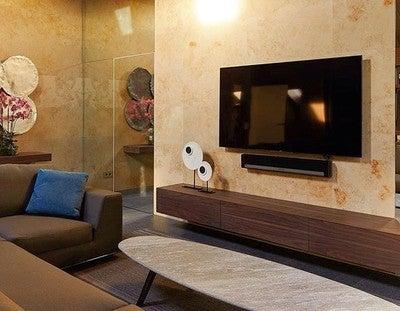 #PLAYBAR #Sonos удобное и компактное решение для любых помещений. Он отлично  дополнит яркую, реалистичную картинку потрясающим, мощным, качественным звуком! @sonos  #luxhome #дизайнинтереьера #дизайн #elledesign #instadecor #decor #arhitecturedesign
