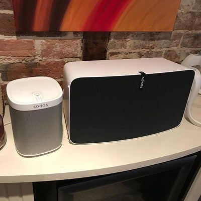 Maybe a bit overkill for a small house but hey ho....why not, sounds great though  #noshitsgiven #sonos #play1 #play5 #music #quality #housefestival