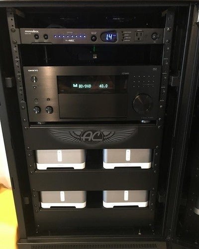 #autocraftofscarsdale with another #rack #install #westchestercounty #larchmont with #sonos #connectamp #connect #onkyo and #urc #totalcontrol #av