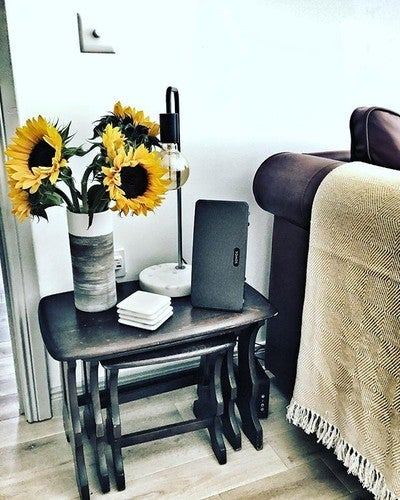 Sunflowers & songs! Ready to relax at The Bothy. . . . #sonos #thebothy #thebothyaviemore #Aviemore #musiclovers #holiday #cairngorms #selfcatering #dogfriendly #sunflower #ercol #play3 #handpickedlodges