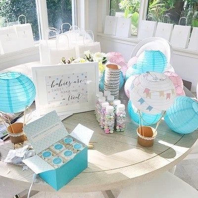 Shop wedding favors baby shower favors more beau coup image by fashionablehostess containing blue table aqua furniture baby shower negle Images