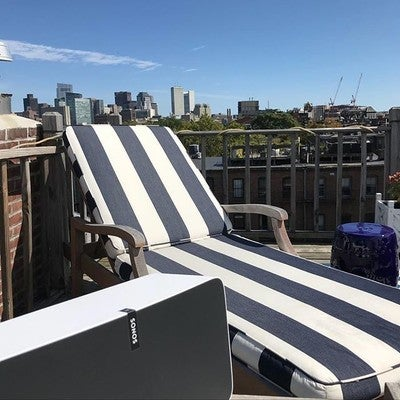 Nothing says #memorialdayweekend like some #sonos streaming music on your roof deck #play5 #control4 #pandora #spotify #applemusic #amazon #alexa