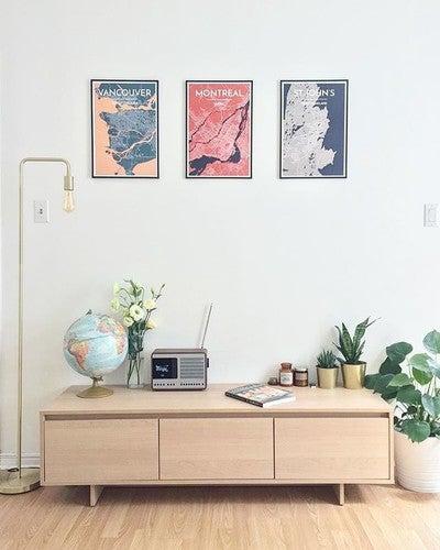 Beacon brass floor lamp lighting article modern mid century image by haydensliao containing furniture table shelf shelving interior design aloadofball Choice Image
