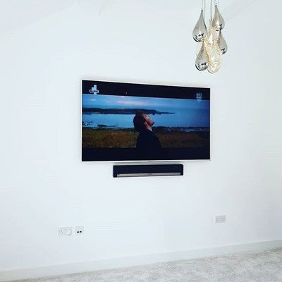#samsung #led install accompanied by #sonos #playbar and sub