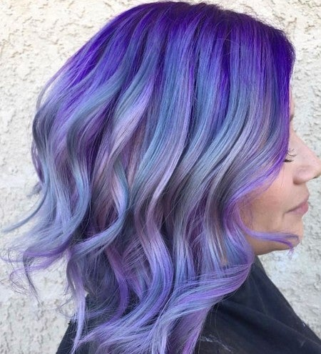 Purple Dyed Hair Hairstyles These 50 Cute Shade You Cant