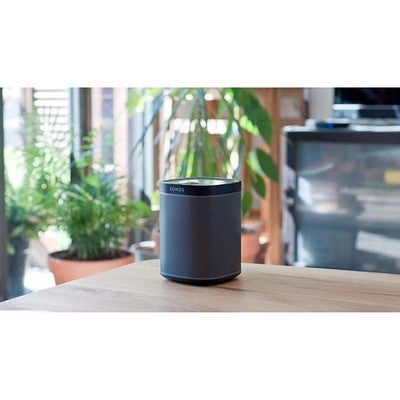 Playing some beats on the Sonos Play:1 . . . . #sonos #sonosplay1 #speaker #music #audio #hifi #soundsystem #play1 #homedesign #plants