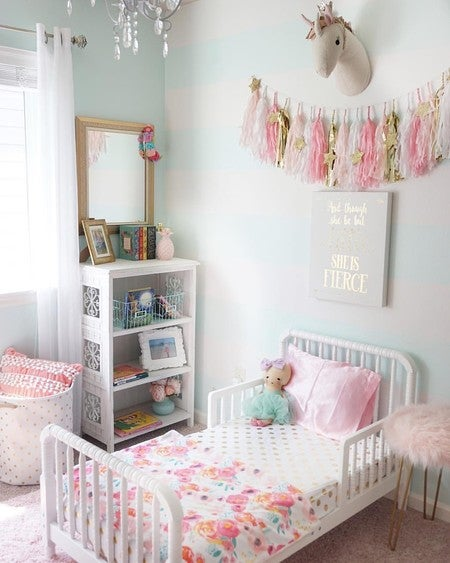 Fabulous image by chelseehood containing pink room bedding product home