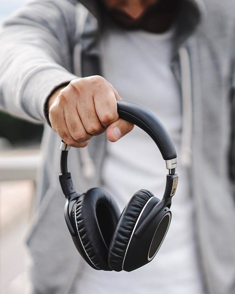 image by sennheiser containing headphones, technology, audio equipment, electronic device, audio