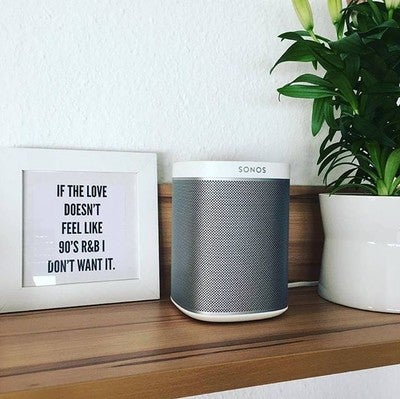 Reminiscing on the feel-good 90's era. What's your favorite #sonosmoment #sonosph #wireless #play1 #minibutmighty  Photo by janina_reg