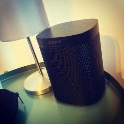 Sounds amazing! #sonos #sonosone #one #black #alexa #radio #applemusic #bedroom #amazing