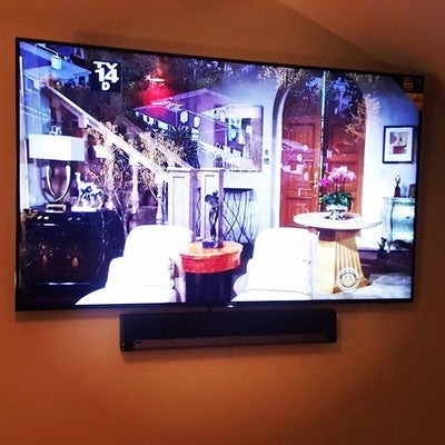 """Downtown customer wanted the biggest TV we could fit? ✔️@sony 75"""" XBR! Wanted the top soundbar on the market? ✔️ @sonos playbar! #noav #neworleans #audiovideo #nola #downtown #louisiana #usa # #me #instagood #instagram #sony #led #tv #sonos #soundbar #playbar #audiovisual #happycustomer #love #this #setup #lovewhatyoudo #avlife"""