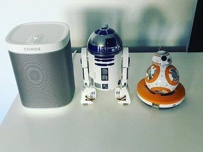 Just feels right #r2d2 #bb8 #sonos #play1