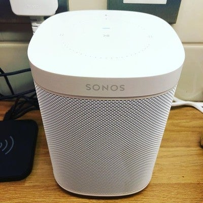 Shallow, inanimate objective love and adding to our Sonos Collection.  Caved in and joined the Alexa family ... @sonos @amazon_alexa #sonosone #sonosplaybar #sonos1 #peerpressure #awesomesound #whynot