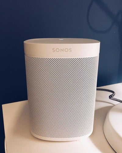 359/365 Our @ramatthews12 got me 3 of these for Christmas. I anticipate the relationship we've built over the past 7 months with our next door neighbour will draw to a close an awful lot sooner than later  #sonos #one #alexa #amazonecho #beats #speakers #rachelisthebest #betterthanyourrachel
