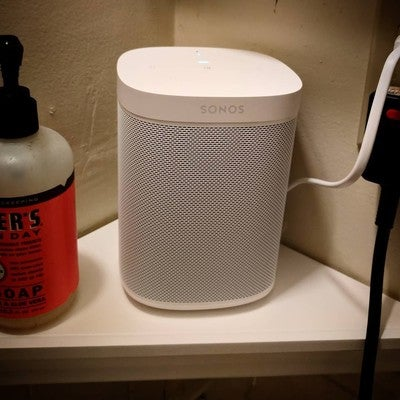 SONOS is the bathroom: all life goals achieved. #sonos #sonosone #amazonalexa #alexa