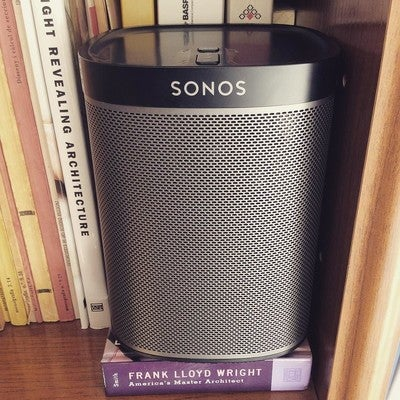 True music. #sonos #play1 #architecture #franklloyd #truebass #sound #homecinema #music #instamusic