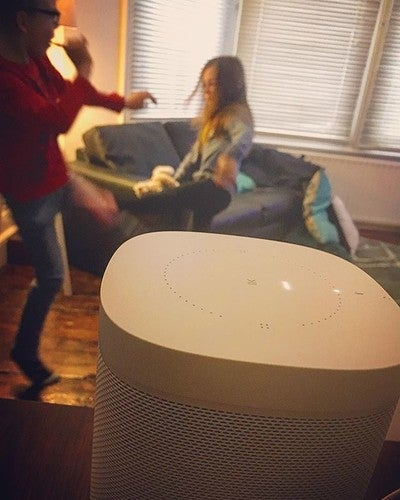 """Alexa, please stop the fighting"" #modernlife #sonosone #amazonalexa #parentfail #twins #fightclub #thisis40 #alexa"