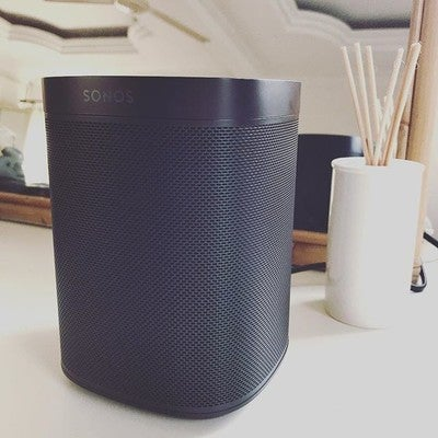 Third addition to the home.  Have always wanted it since its launch and we got it as a wedding gift from cousin. Imagine my happiness #weddinggift #sonosone #sonos