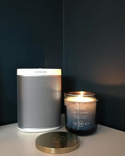 Bedroom details! • • • #myredrow #myledbury #housetohome #sonos #play1 #home #speaker #dwcandles #candle #candlelover #housetohome #redrowhomes #redrow #ledbury #house #interior #farrowandball #hagueblue #idealhome #interior123 #exeter #devon #southwest #newbuild #decor
